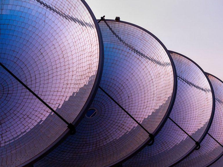 A solar array representing globalization